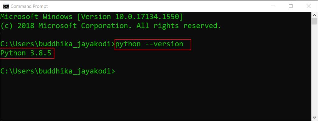 check installed python version on windows