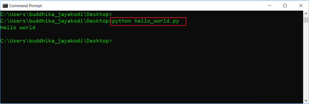 python run script of idle program