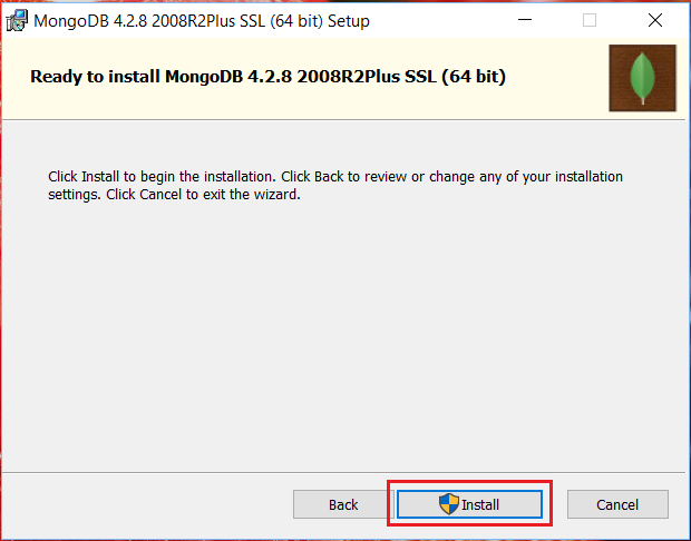install mongodb server on windows 10